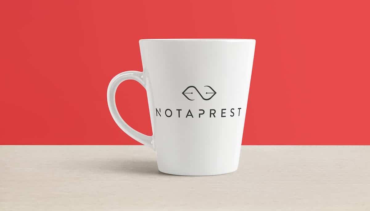 création logo Notaprest webmaster création site internet graphiste bordeaux poitiers nicolas métivier