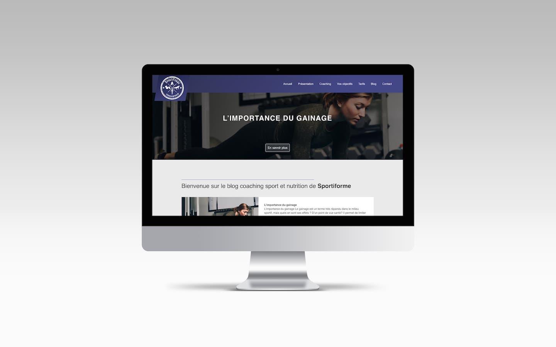 création site internet sportiforme webmaster bordeaux poitiers nicolas métivier