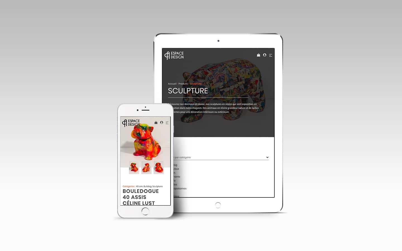Création de site internet espace design bordeaux wordpress responsive webmaster bordeaux