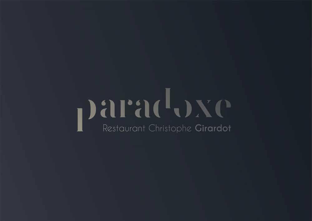 réalisation nicolas métivier webmaster graphiste bordaaux logo restaurant paradoxe