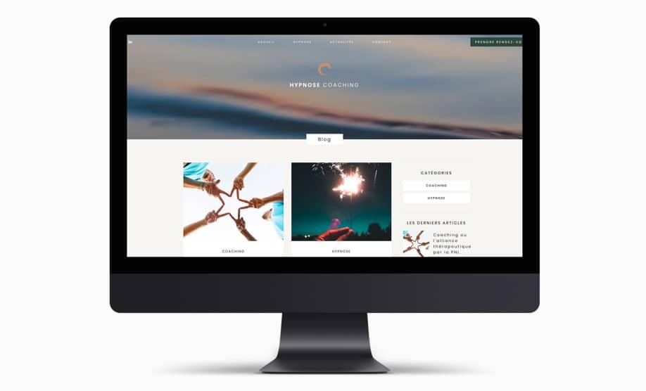 Site web responsive grand écran hypnose montendre webmaster bordeaux poitiers