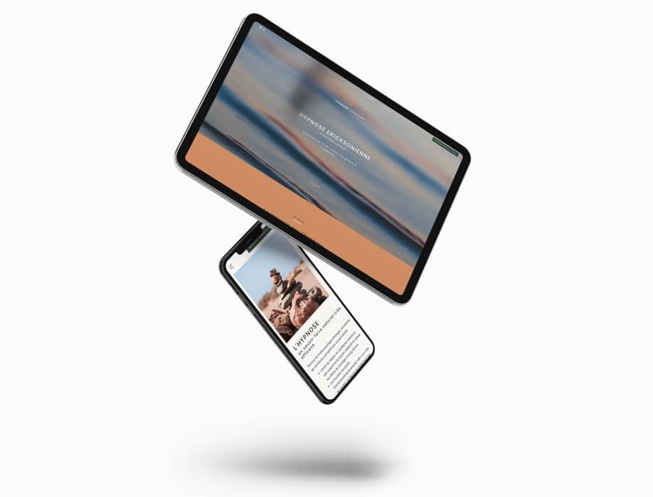 Visuels smartphone et tablette du site internet Hypnose Montendre