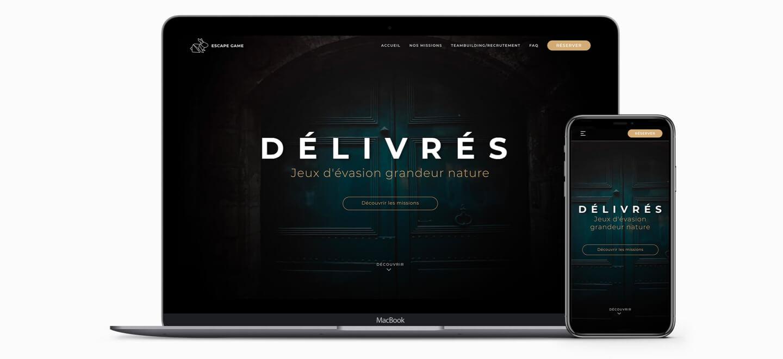 création site internet escape game délivrés pau