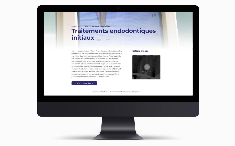 soins endodontiste site internet wordpress bordeaux clinique dentaire