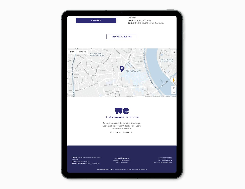 Visuel ipad création site internet docteur marret Webmaster Bordeaux
