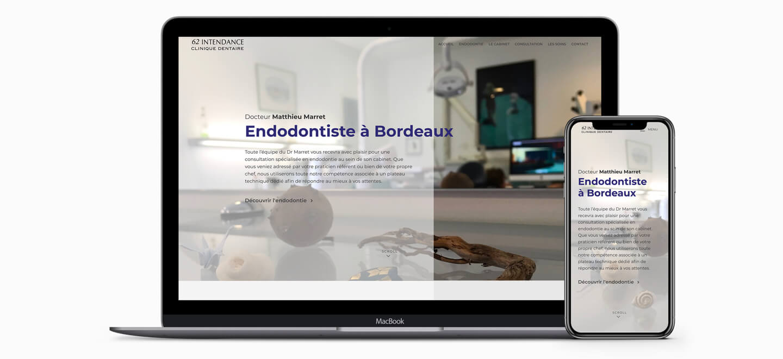 création de site interernet endodontie webmaster bordeaux