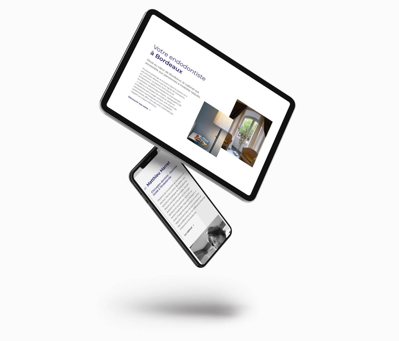 Endodontie dr marret clinique dentaire webmaster freelance création site web bordeaux