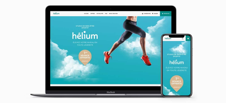 création site internet e-commerce hélium studio sport Pau