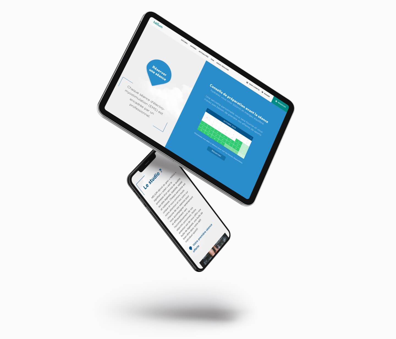 création site web e-commerce booking hélium studio sport pau