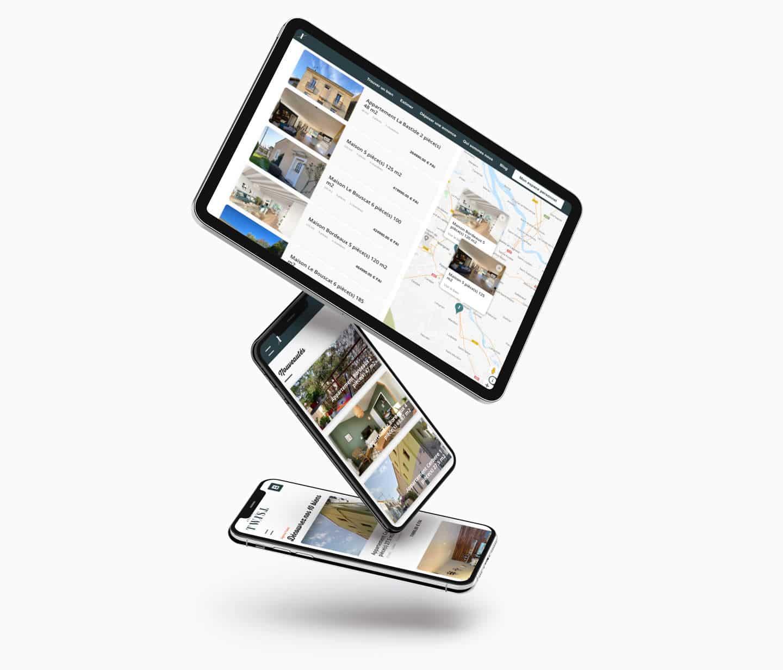 api google géolocalisation des biens immobilier sur site internet