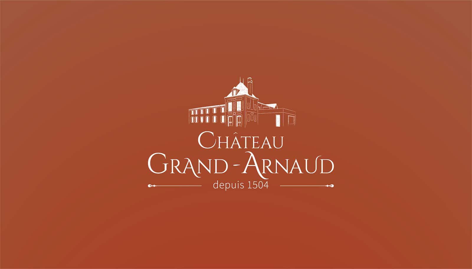 création logo château grand arnaud séminaires mariages et chambres d'hôtes