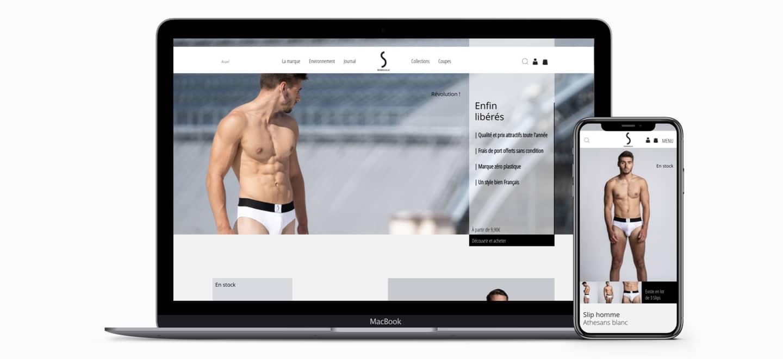 Création site internet Wordpress S BORDEAUX pret à porter e-commerce