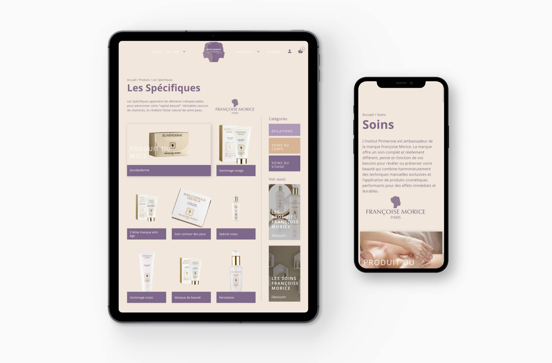 Création Site internet institut de beauté kinéplastie Prmierose webmaster Bordeaux
