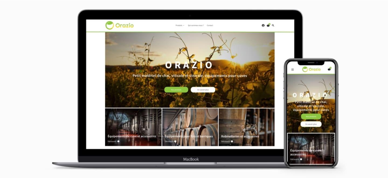 Orazio UX & Webdesign création site internet industriel Vinicole et viticole à Bordeaux