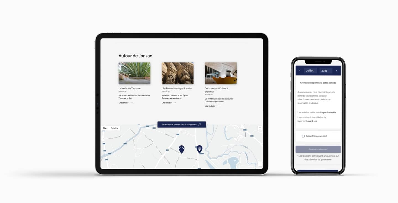 Création site internet responsive géolocalisation résidence czarny Location thermale Jonzac