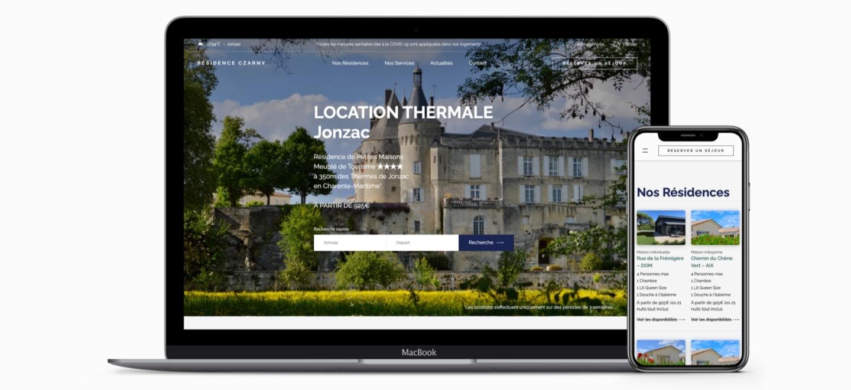Création site internet résidence czarny Location thermale Jonzac