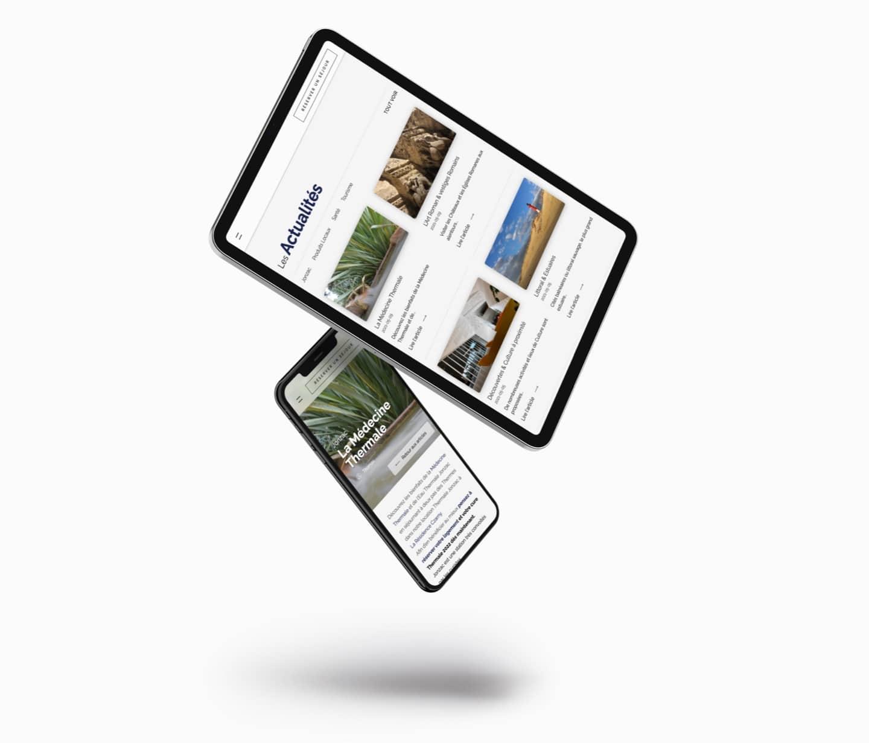 Création site internet responsive tablette et mobile résidence czarny Location thermale Jonzac