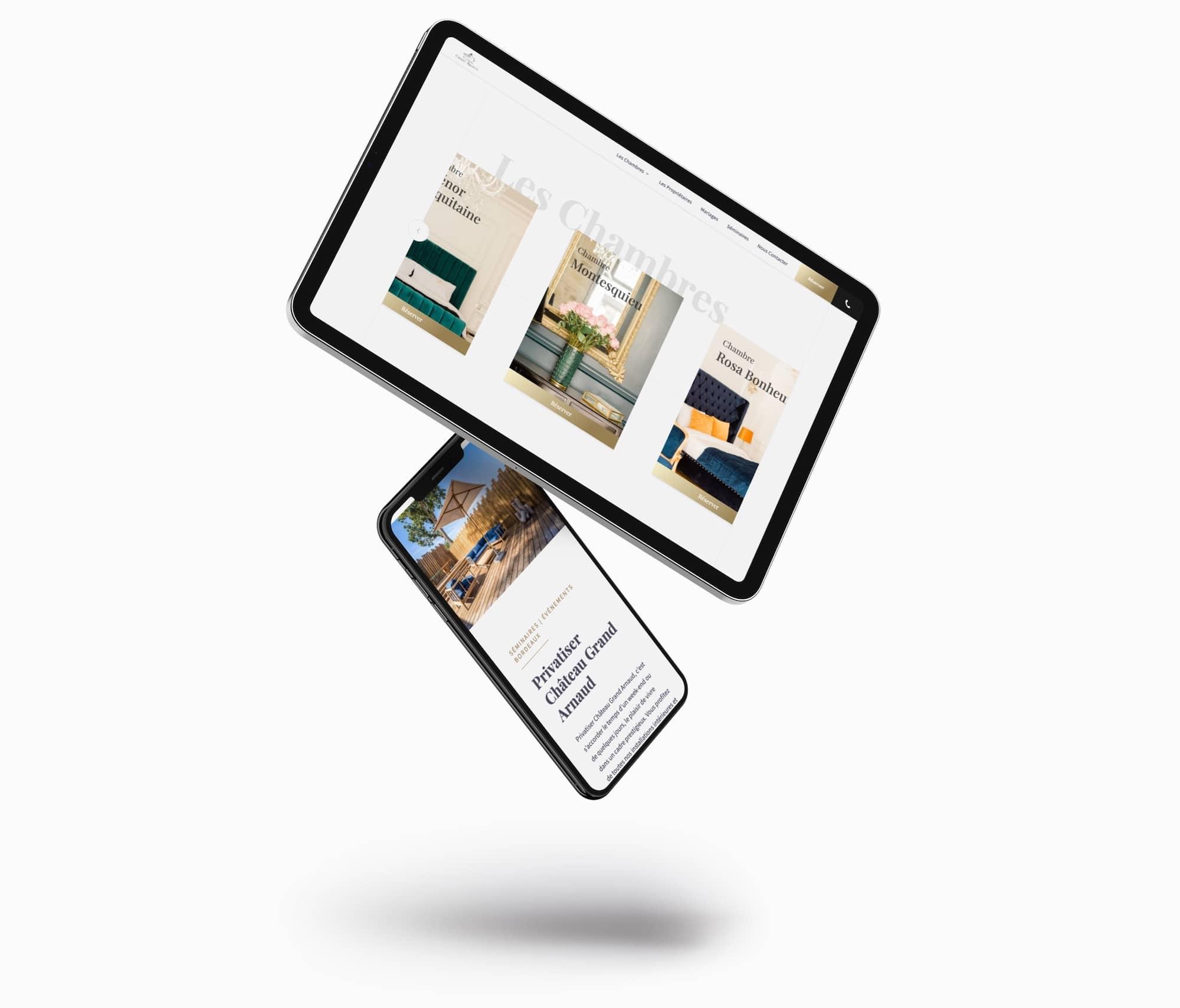 site internet réservation chambres hôtes Bordeaux Château Grand Arnaud